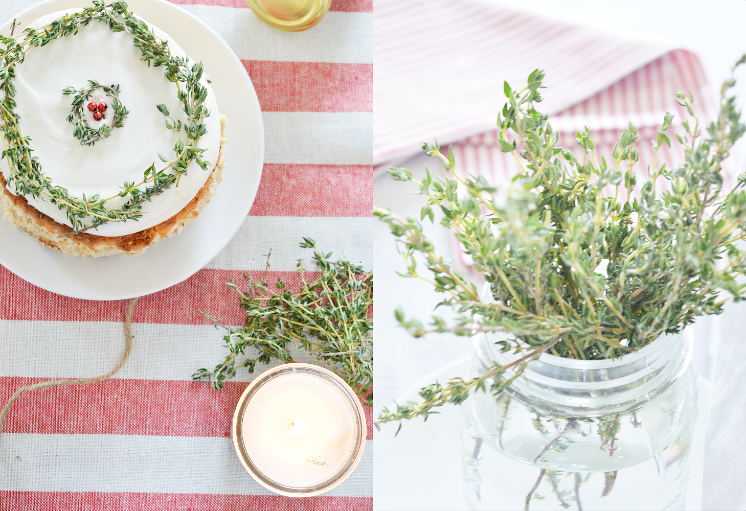 Collage_Honey Thyme Cake